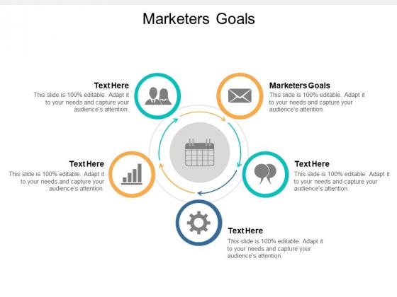 Marketers Goals Ppt PowerPoint Presentation Infographics Design Ideas Cpb