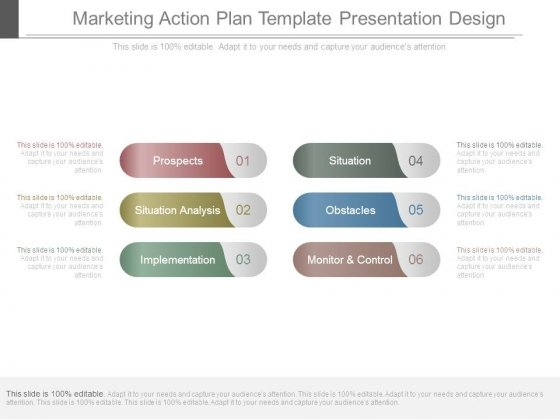 marketing action plan template presentation design powerpoint