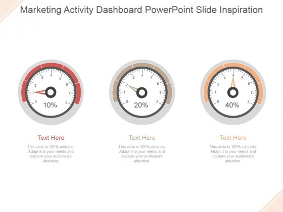 Marketing Activity Dashboard Ppt PowerPoint Presentation Samples