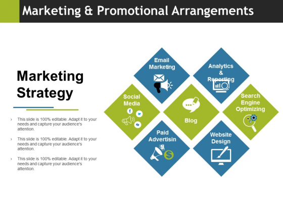 Marketing And Promotional Arrangements Ppt PowerPoint Presentation Layouts Design Inspiration