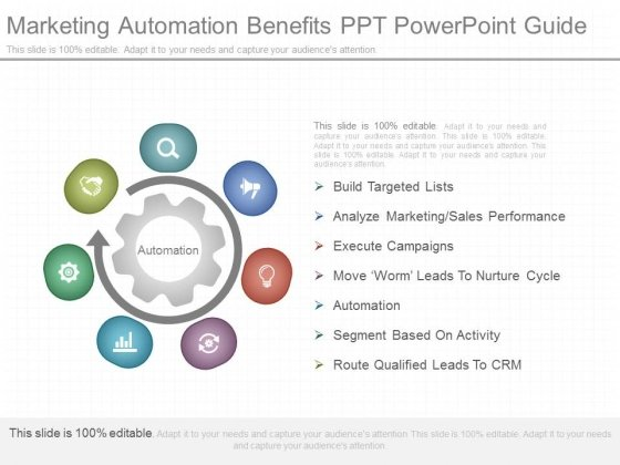 Marketing Automation Benefits Ppt Powerpoint Guide