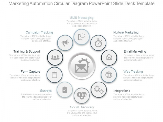 Marketing Automation Circular Diagram Powerpoint Slide Deck Template