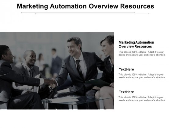 Marketing Automation Overview Resources Ppt PowerPoint Presentation Portfolio Graphics Download Cpb