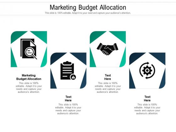 Marketing Budget Allocation Ppt PowerPoint Presentation Infographics Portrait Cpb Pdf