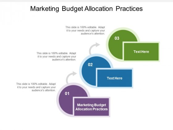 Marketing Budget Allocation Practices Ppt PowerPoint Presentation Icon Gridlines Cpb Pdf