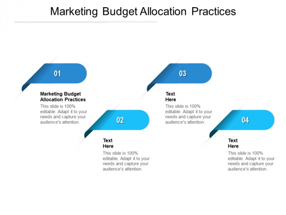 Marketing Budget Allocation Practices Ppt PowerPoint Presentation Layouts Design Inspiration Cpb Pdf