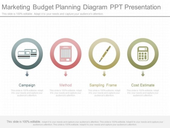 marketing budget planning diagram ppt presentation powerpoint