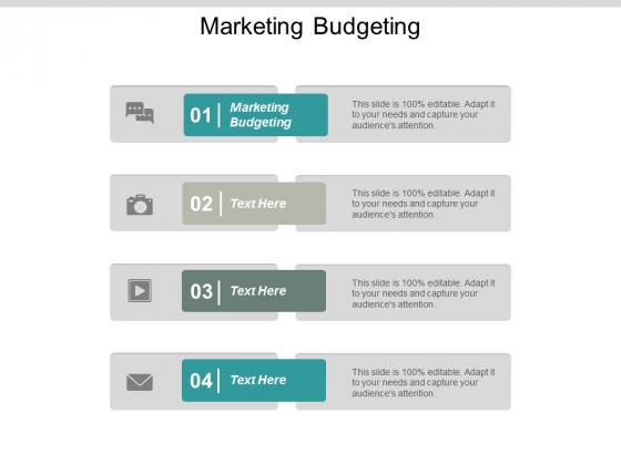 Marketing Budgeting Ppt PowerPoint Presentation Inspiration Show Cpb