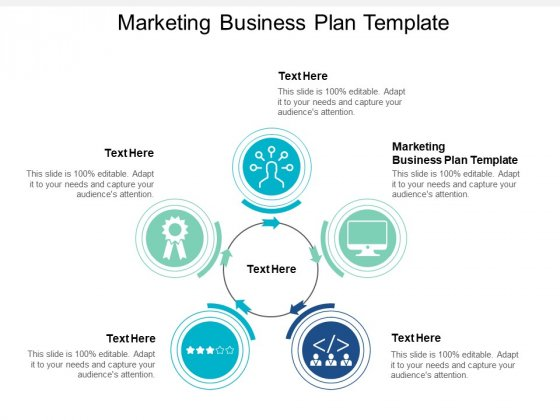 Marketing Business Plan Template Ppt PowerPoint Presentation Infographic Template Portrait Cpb