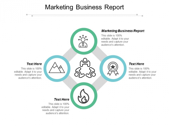 Marketing Business Report Ppt PowerPoint Presentation Icon Infographics Cpb