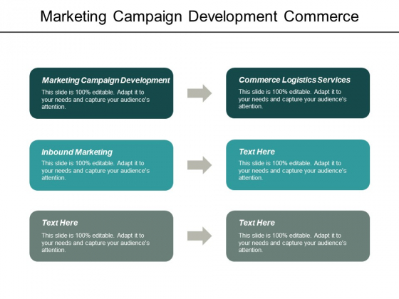 Marketing Campaign Development Commerce Logistics Services Inbound Marketing Ppt PowerPoint Presentation Outline Good