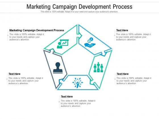 Marketing Campaign Development Process Ppt PowerPoint Presentation Pictures Guide Cpb Pdf