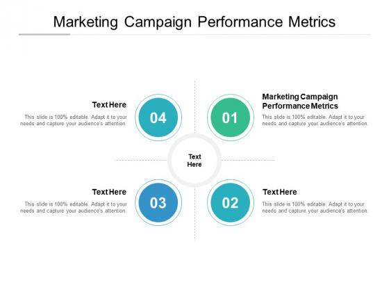 Marketing Campaign Performance Metrics Ppt PowerPoint Presentation Portfolio Design Inspiration Cpb Pdf