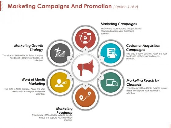marketing campaigns and promotion template 1 ppt powerpoint