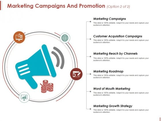 Marketing Campaigns And Promotion Template 2 Ppt PowerPoint Presentation Show Templates