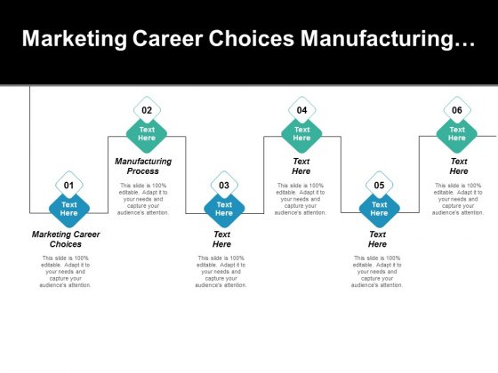 Marketing Career Choices Manufacturing Process Ppt PowerPoint Presentation Slides Background Designs