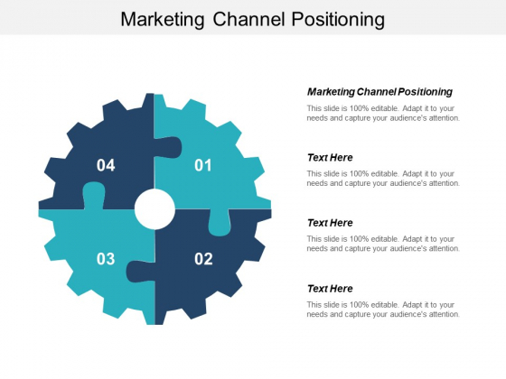 Marketing Channel Positioning Ppt PowerPoint Presentation Slides Vector Cpb