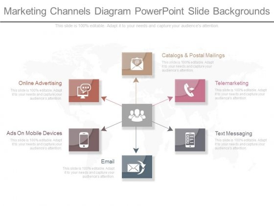 Marketing Channels Diagram Powerpoint Slide Backgrounds