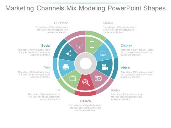 Marketing Channels Mix Modeling Powerpoint Shapes