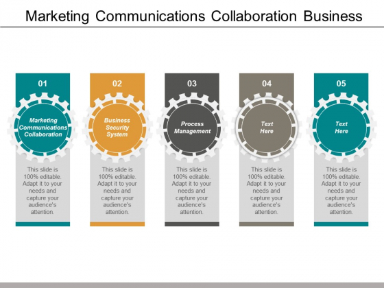 Marketing Communications Collaboration Business Security System Process Management Ppt PowerPoint Presentation Graphics