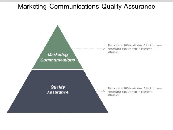 Marketing Communications Quality Assurance Market Segmentation Financial Services Ppt PowerPoint Presentation Portfolio Icons