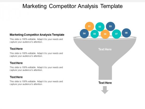 Marketing Competitor Analysis Template Ppt PowerPoint Presentation Slides Picture Cpb