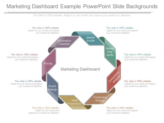 Marketing Dashboard Example Powerpoint Slide Backgrounds