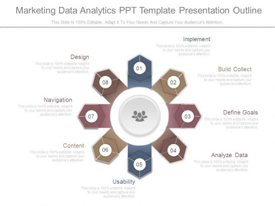 Marketing Data Analytics Ppt Template Presentation Outline