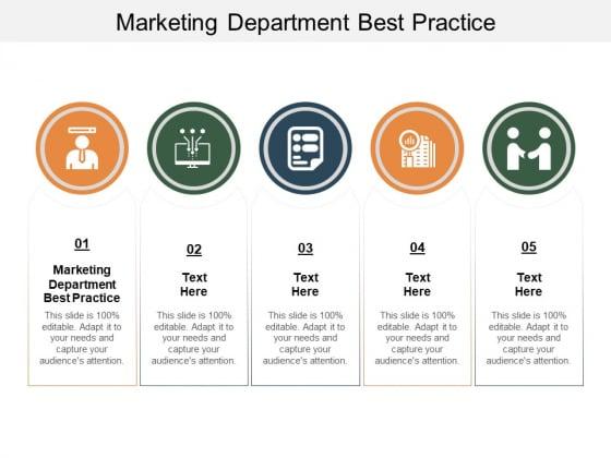 Marketing Department Best Practice Ppt PowerPoint Presentation Summary Good Cpb