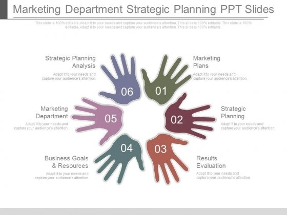 Marketing Department Strategic Planning Ppt Slides