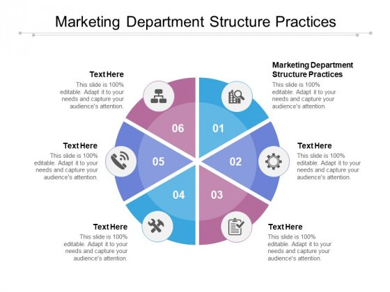 Marketing Department Structure Practices Ppt PowerPoint Presentation Ideas Graphics Tutorials Cpb