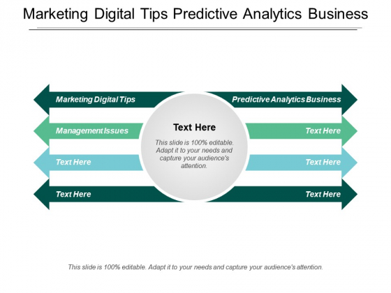 Marketing Digital Tips Predictive Analytics Business Management Issues Ppt PowerPoint Presentation Styles Ideas