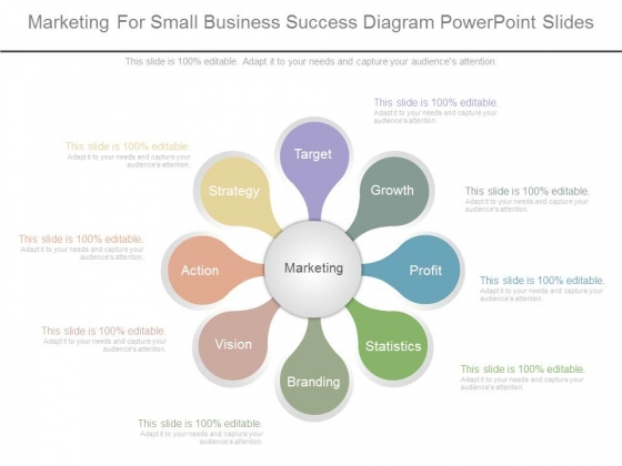 Marketing For Small Business Success Diagram Powerpoint Slides