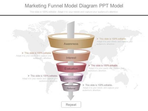 Marketing Funnel Model Diagram Ppt Model