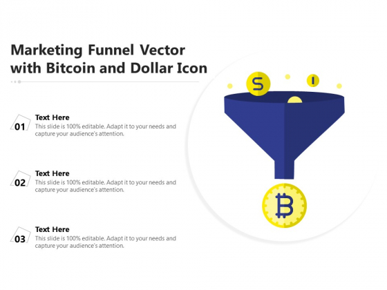 Marketing Funnel Vector With Bitcoin And Dollar Icon Ppt PowerPoint Presentation Background Image PDF