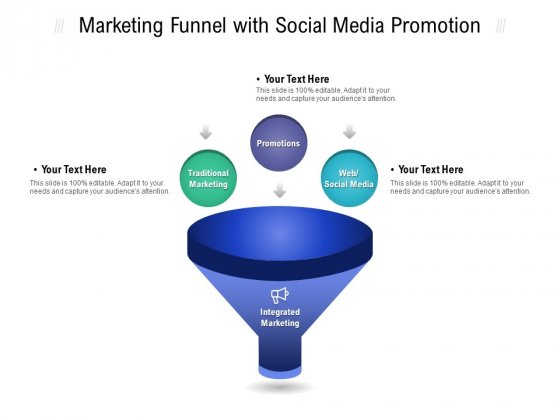 Marketing Funnel With Social Media Promotion Ppt PowerPoint Presentation File Skills
