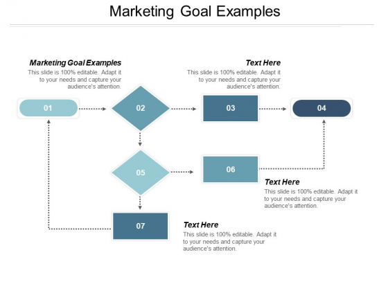 Marketing Goal Examples Ppt PowerPoint Presentation Show Professional