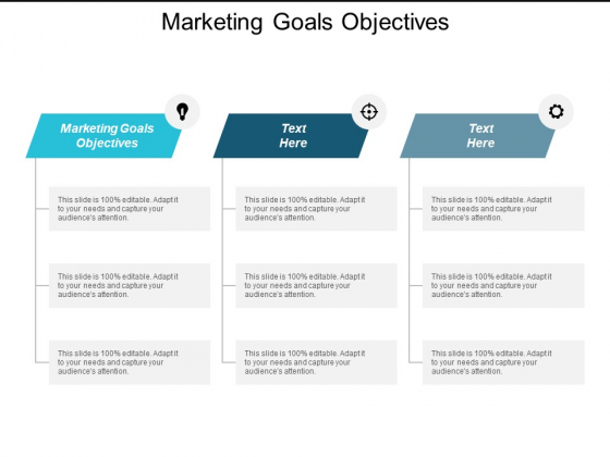 Marketing Goals Objectives Ppt Powerpoint Presentation File Grid Cpb