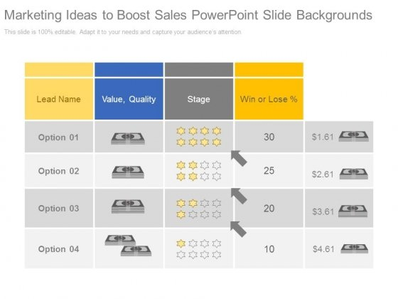 Marketing Ideas To Boost Sales Powerpoint Slide Backgrounds