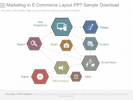 Marketing In E Commerce Layout Ppt Sample Download