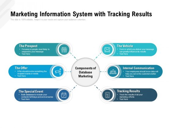 Marketing Information System With Tracking Results Ppt PowerPoint Presentation Infographics Design Templates