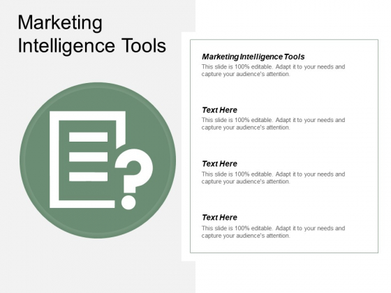 Marketing Intelligence Tools Ppt PowerPoint Presentation Influencers Cpb