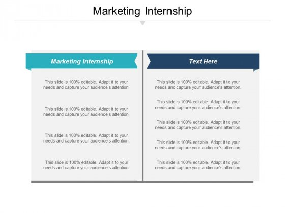 Marketing Internship Ppt PowerPoint Presentation Outline Professional Cpb