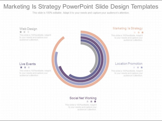 Marketing Is Strategy Powerpoint Slide Design Templates