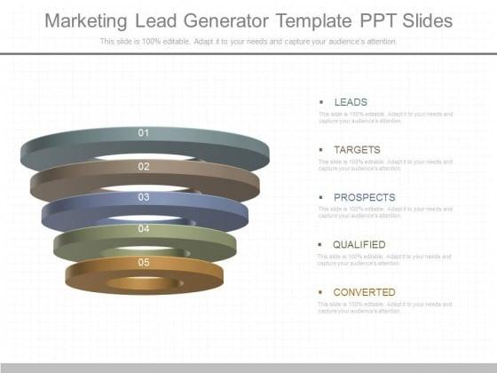 Marketing Lead Generator Template Ppt Slides