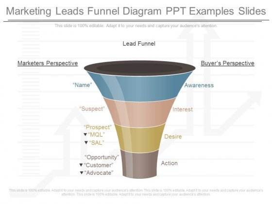 Marketing Leads Funnel Diagram Ppt Examples Slides