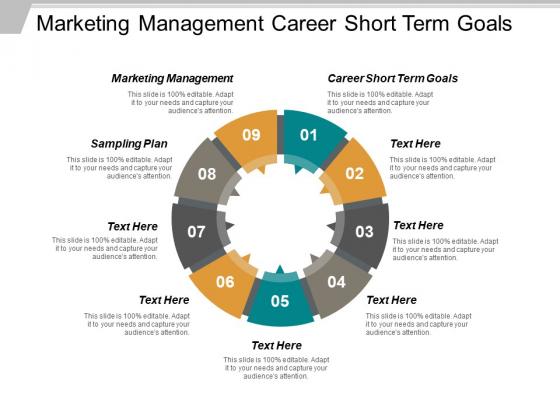 Marketing Management Career Short Term Goals Sampling Plan Ppt PowerPoint Presentation Pictures Example