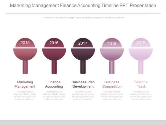 Marketing Management Finance Accounting Timeline Ppt Presentation