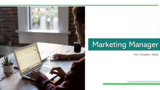 Marketing Manager Utilizing Technology Ppt PowerPoint Presentation Complete Deck With Slides