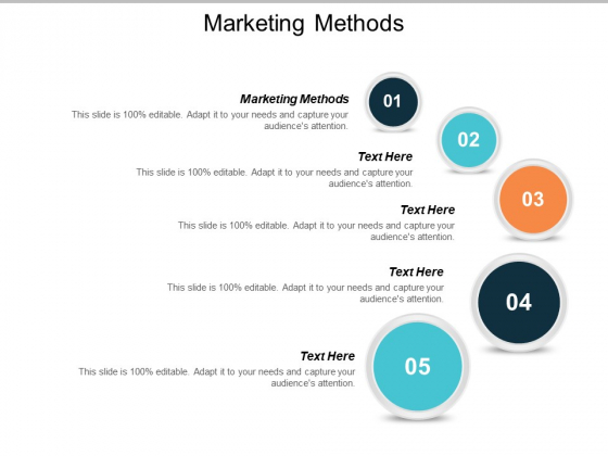 Marketing Methods Ppt PowerPoint Presentation Ideas Infographics Cpb